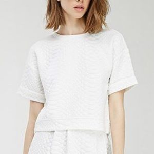 Chico's Quilted Boxy Top Blouse